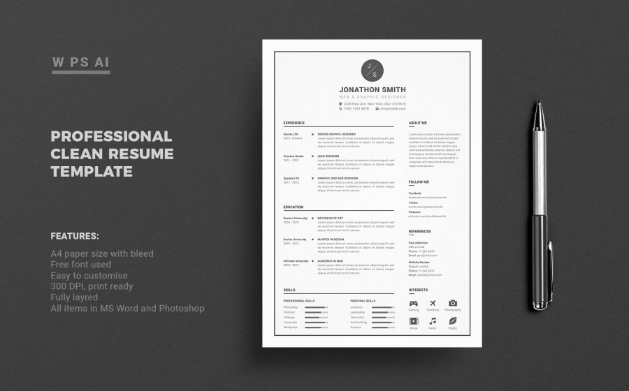 Fonts To Be Used In Resume  what is the best resume font size and     john smith resume template 65425