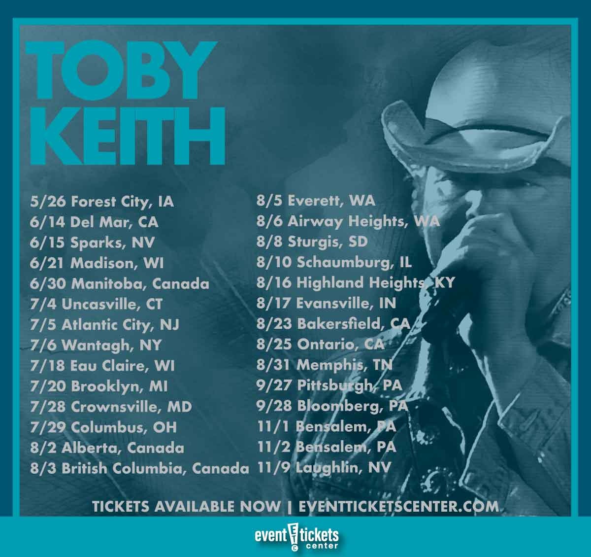 """Toby Keith Announces 2019 """"That's Country Bro!"""" Tour"""