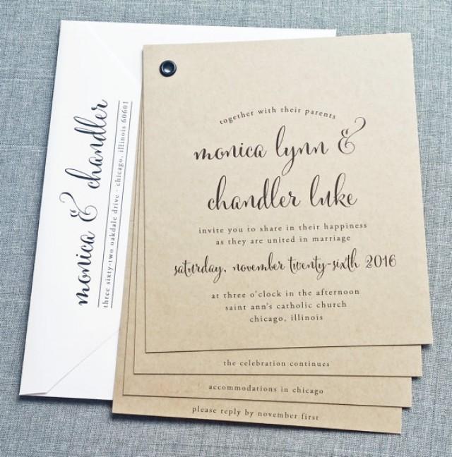 Rustic Wedding Invitation Booklet