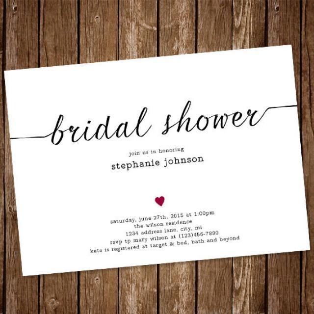 Simple Bridal Shower Invitations