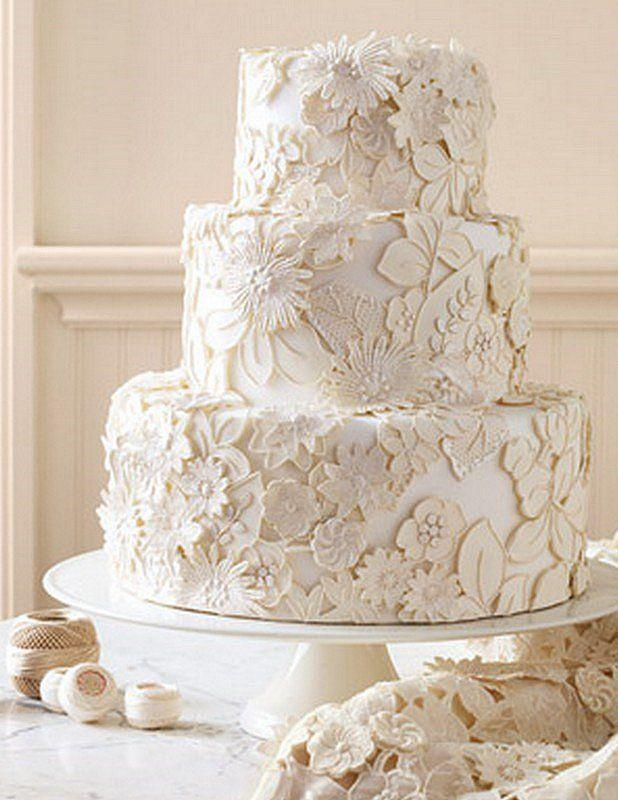 Vintage Wedding   Vintage Lace Wedding Cake Design  2028664   Weddbook Vintage Lace Wedding Cake Design