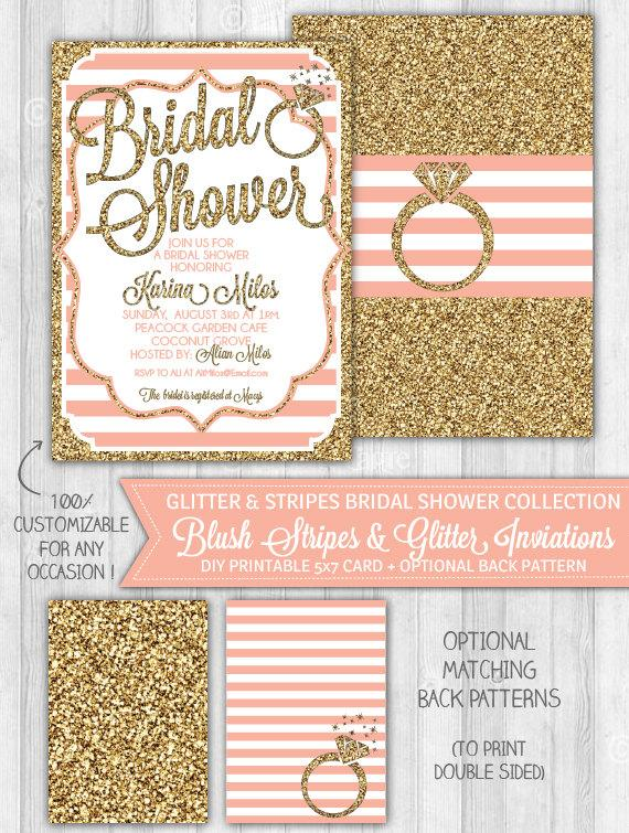 Printable Gold Bridal Shower