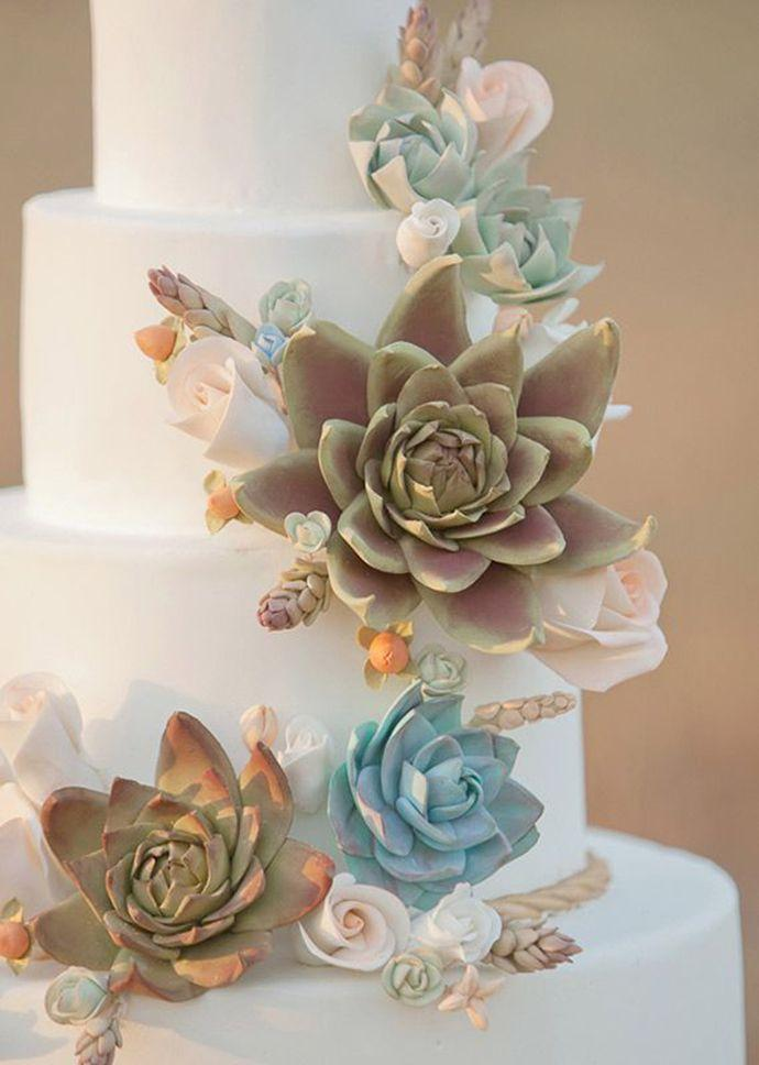 30 Succulent Wedding Cake Idea  2015 s Hottest Trend  2281486   Weddbook 30 Succulent Wedding Cake Idea  2015 s Hottest Trend