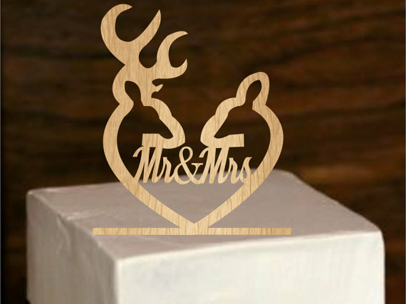 Deer Cake Topper   Rustic Wedding Cake Topper   Personalized     Deer cake topper   Rustic Wedding Cake Topper   Personalized Monogram Cake  Topper   Mr and Mrs   Cake Decor   Bride and Groom