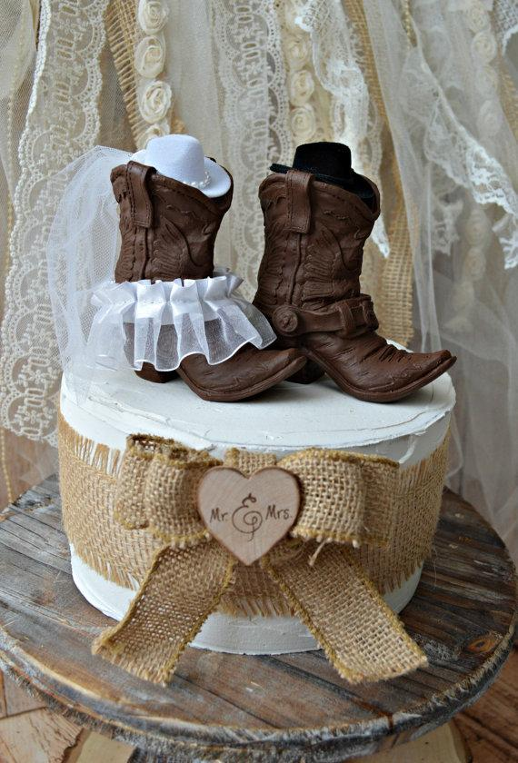 Western Cowboy Boots Wedding Cake Topper western Wedding western     Western cowboy boots wedding cake topper western wedding western wedding  cake topper cowboy boot topper