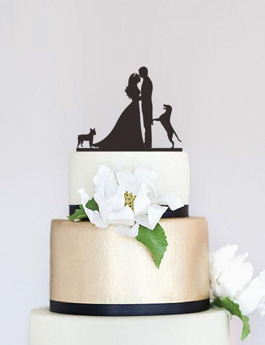 Wedding Cake Topper Groom And Bride Cake Topper Custom Cake Topper     Wedding Cake Topper Groom And Bride Cake Topper Custom Cake Topper With Dog Unique  Cake Topper Wedding Decoration P107