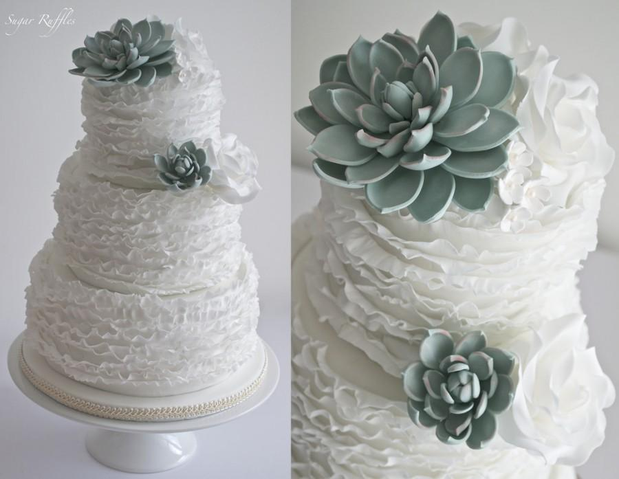 Food   Favor   Succulent Wedding Cake  2485173   Weddbook Succulent Wedding Cake