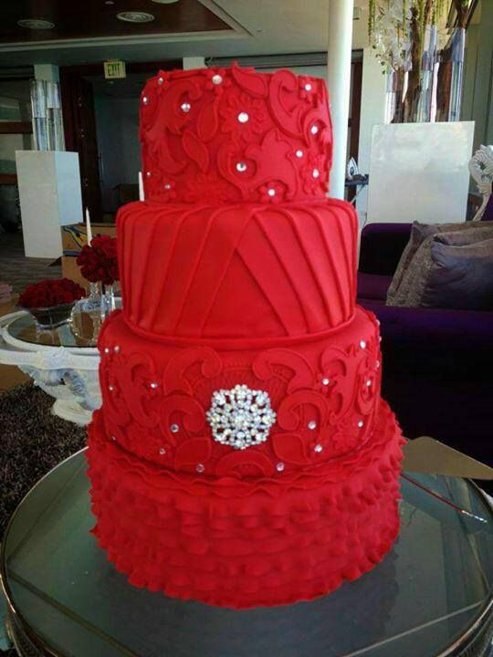 Cake   Red Wedding Cake  2512464   Weddbook Red Wedding Cake