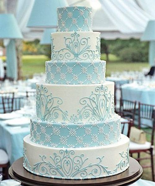 So Beautiful French Blue And White Wedding Cake Design  2572656     So Beautiful French Blue And White Wedding Cake Design
