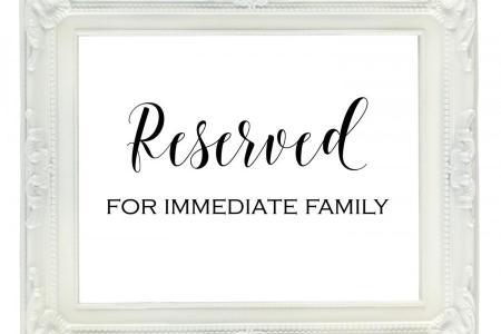 Best Formal Letter Format » reserved cards for tables templates ...
