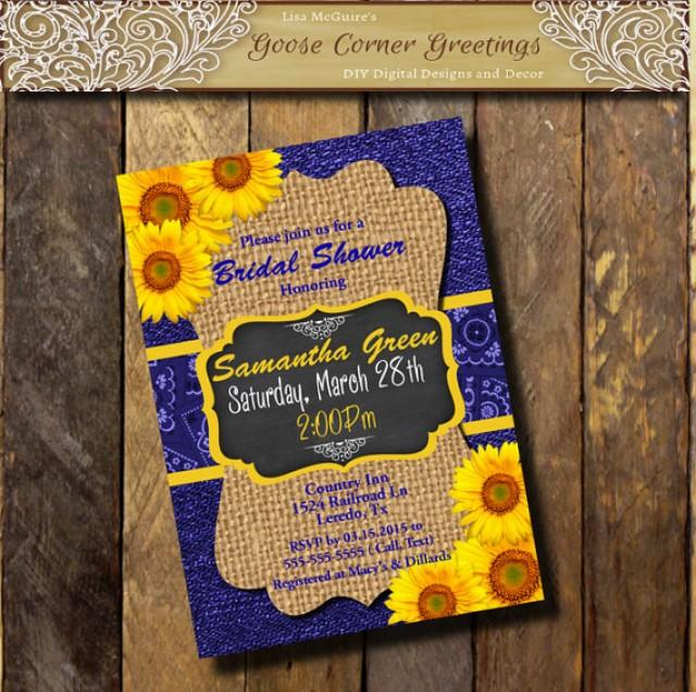 Bridal Shower Invitations Sunflowers