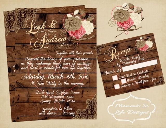 Rustic Wedding Invitations Walmart