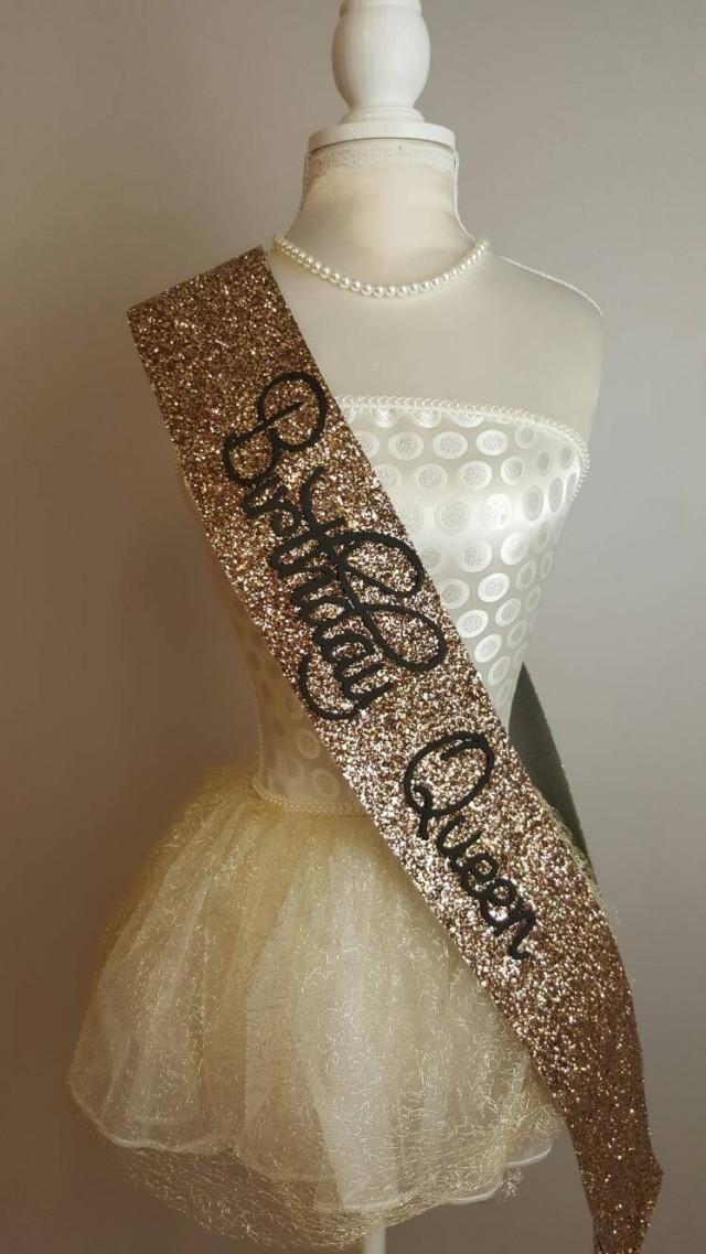 Birthday Sash Birthday Goddess Gold Glitter Handmade