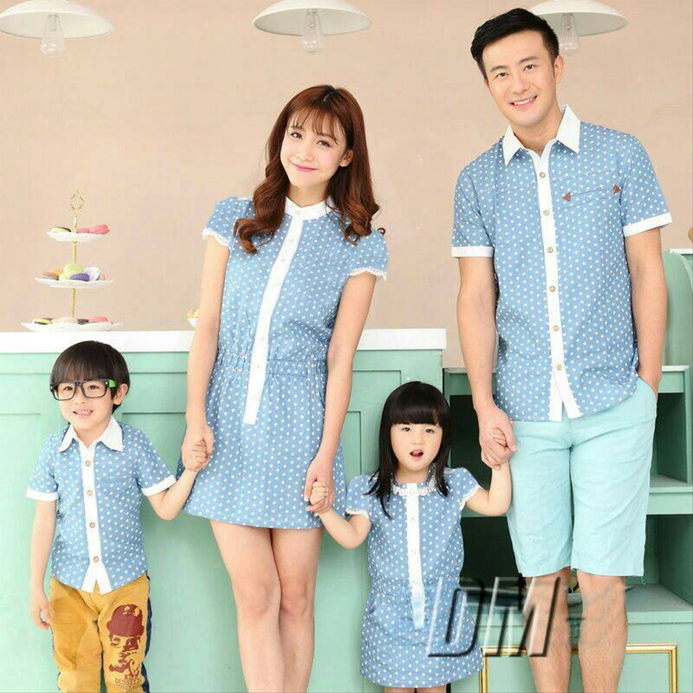 Baju Couple Family In Cl Kemeja Couple Ayah Ibu Anak