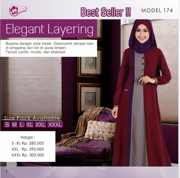 Promo Best Seller Baju Mutif  Gamis Syarie Dress Wanita Hijab Fashion