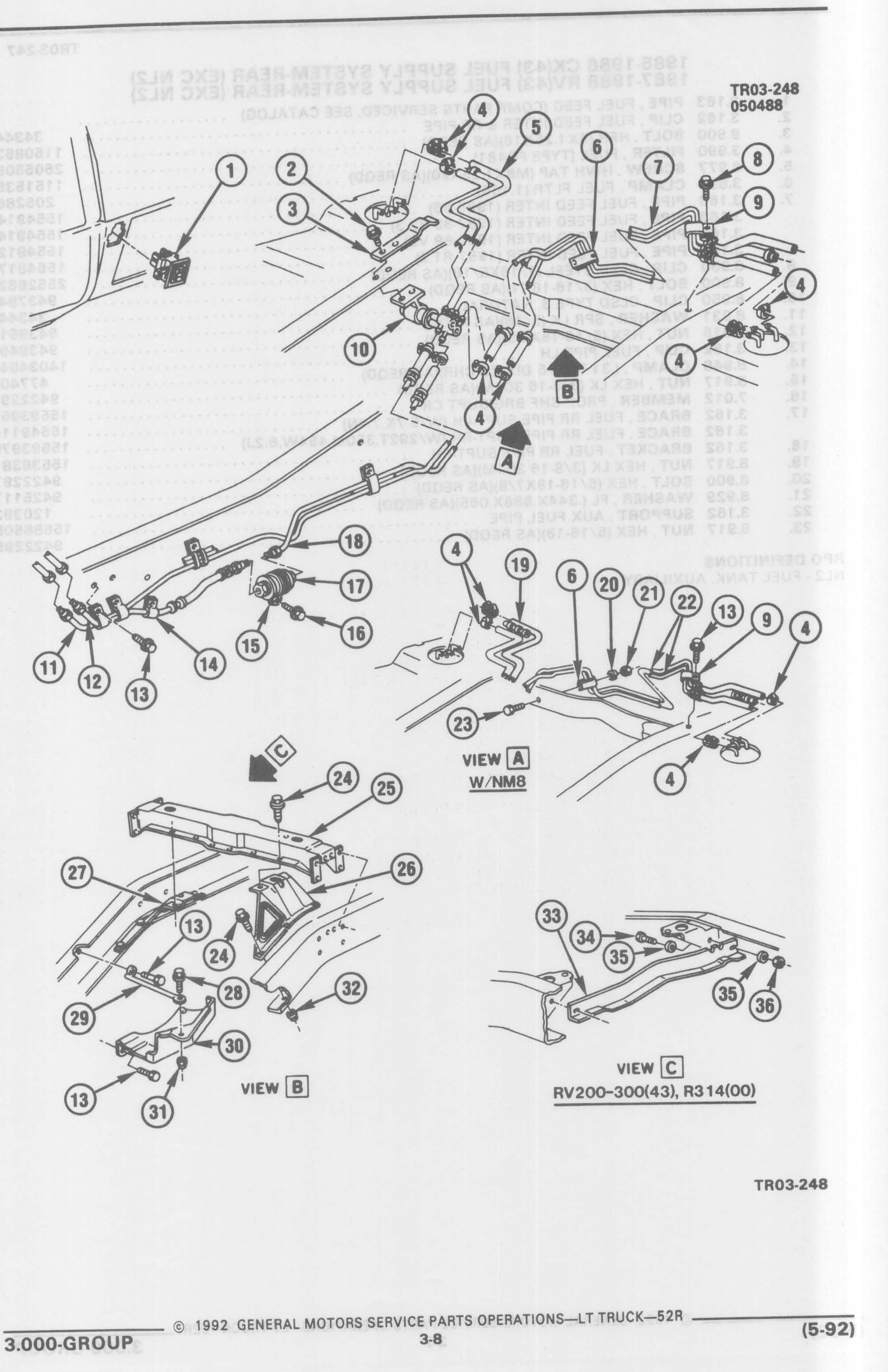 73 87 Chevy Dual Tank Fuel Line Diagram Schematic