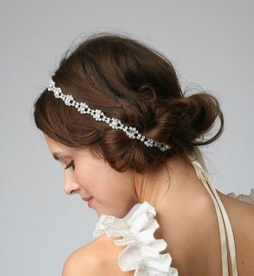 Bridal Hair Accessories Elegant Satin Ribbon With Rhinestone     Bridal Hair Accessories Elegant Satin Ribbon With Rhinestone Headband    Tiara
