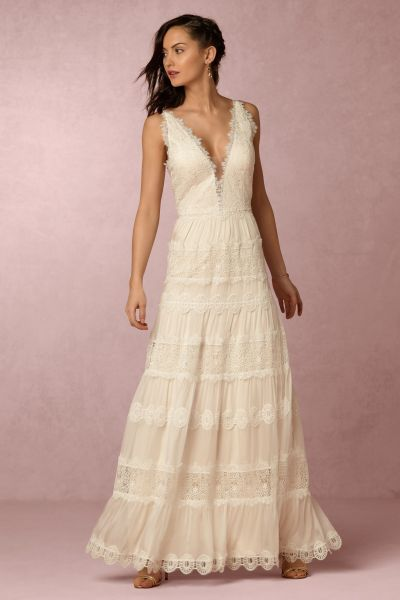 Genevieve Gown in Sale   BHLDN Catherine Deane Champagne Genevieve Gown   BHLDN
