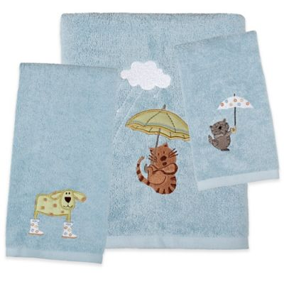Saturday Knight Raining Cats And Dogs Hand Towel Bed