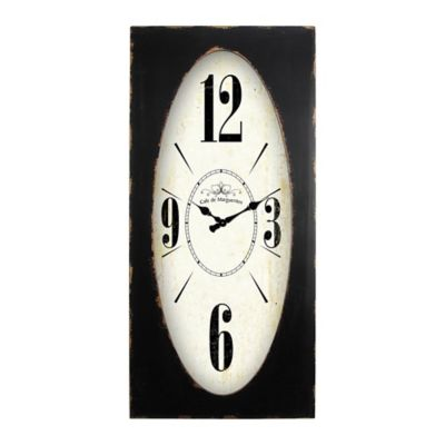 Yosemite Home Decor Speakeasy Spokes Wall Clock in Distressed Brown     Yosemite Home Decor Speakeasy Spokes Wall Clock in Distressed Brown