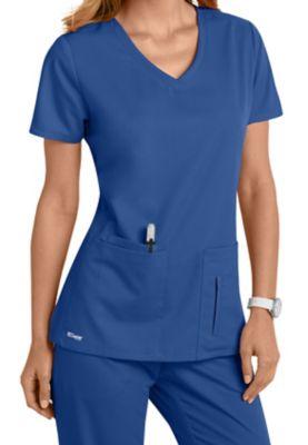 Greys Anatomy 4 Pocket Crossover Top | Scrubs and Beyond