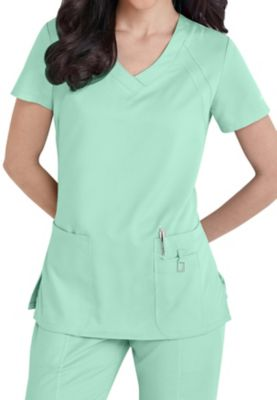 Greys Anatomy tonal raglan sleeve scrub top. | Scrubs & Beyond