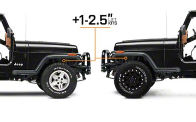 Ford Body Suspension 4x4 1990 Lift 250 Inch Lift 2 4 Inch F