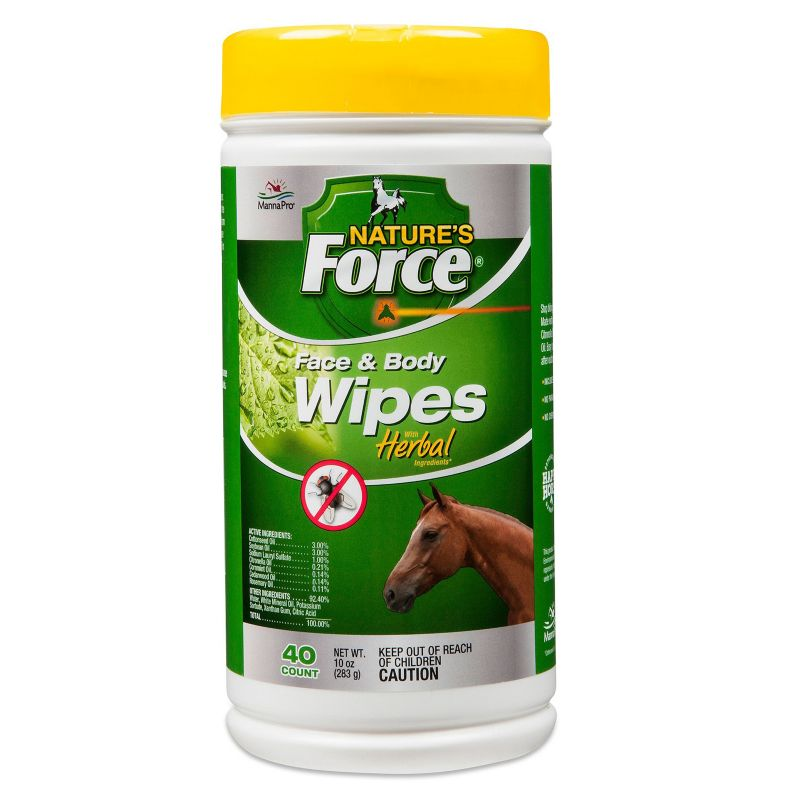 Manna Pro Natures Force Face and Body Wipes - Horse.com