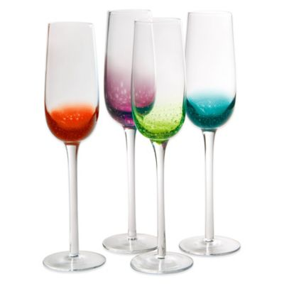 Artland® Fizzy Champagne Flutes in Assorted Colors (Set of ...