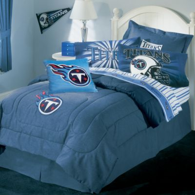 Nfl Tennessee Titans Queen Comforter Set Bed Bath Amp Beyond
