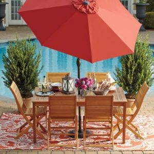 Westerly Acacia Wood Outdoor Patio Collection   Bed Bath   Beyond Westerly Acacia Wood Outdoor Patio Collection