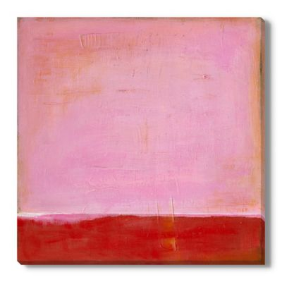 Red On Pink Canvas Wall Art Bed Bath Amp Beyond