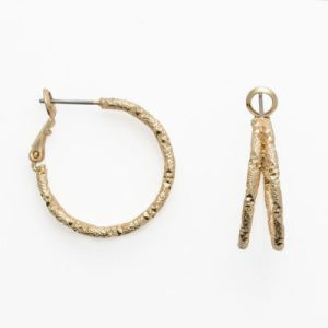 Mixit Gold Tone Etched Double Hoop Earrings   JCPenney Mixit Gold Tone Etched Double Hoop Earrings