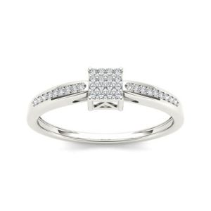 I Said Yes       1 6 CT  T W  Certified Diamond Engagement Ring 1 10 CT T W  Diamond 10K White Gold Engagement Ring