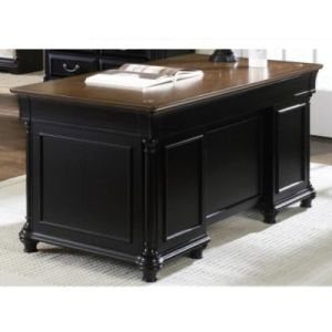 Black Desks  Versatile Home Office Desks   OfficeFurniture com St Ives Two Tone Desk  66 W  8802021