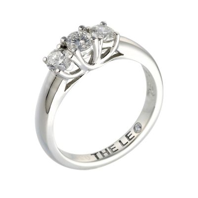Leo Diamond Platinum 0 50ct I Si2 Three Stone Ring Ernest Jones