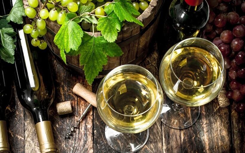 Виноград и напиток