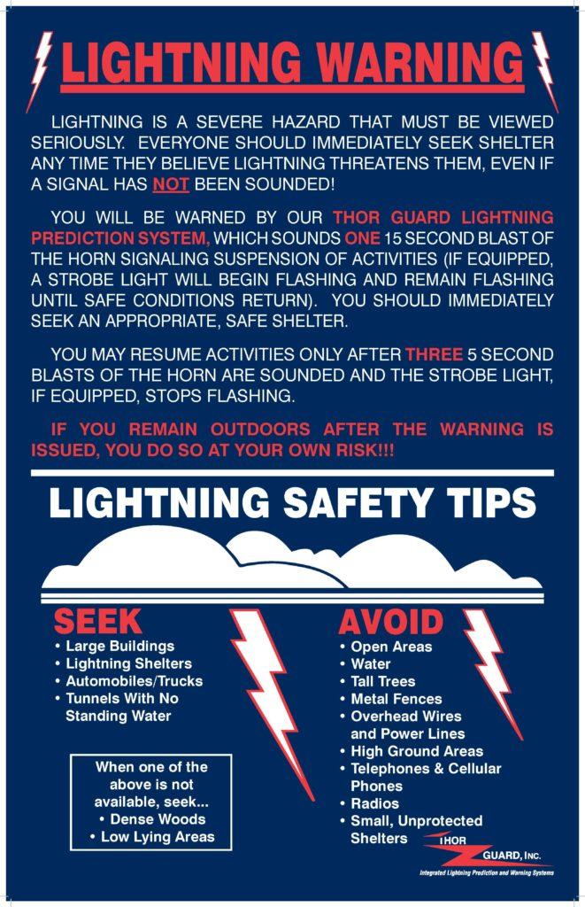 Lightning Warning Safety Tips Township Of Saddle Brook
