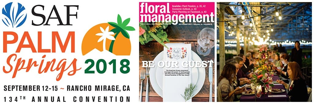 Field to Vase Dinner Comes to SAF Palm Springs 2018