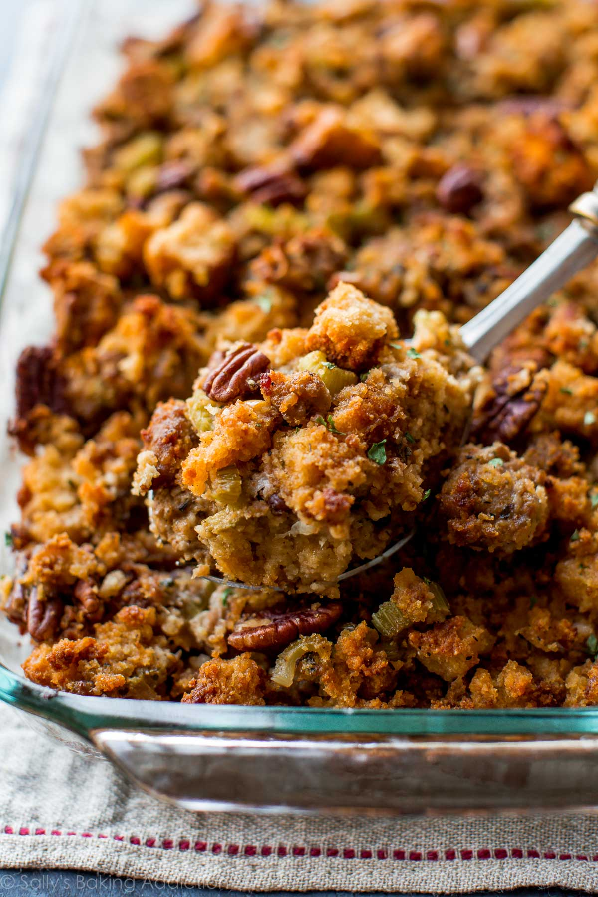 Make Ahead Cornbread Stuffing   Sallys Baking Addiction Here s how to prepare Thanksgiving side dish cornbread stuffing ahead of  time  The most flavorful