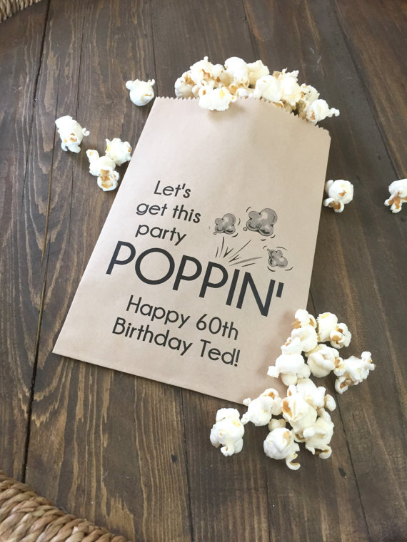 Let S Get This Party Poppin Birthday Favor Bags Salted Design Studio