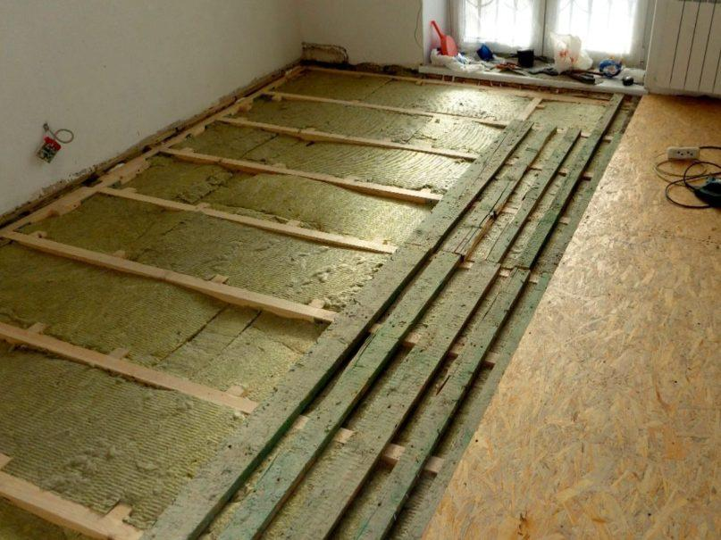 Floor insulation glass