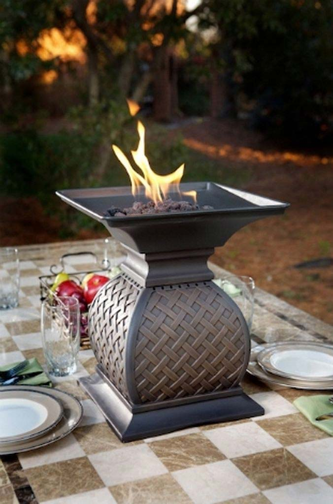 Topple It Up With Tabletop Fire Pit Fire Pit Landscaping