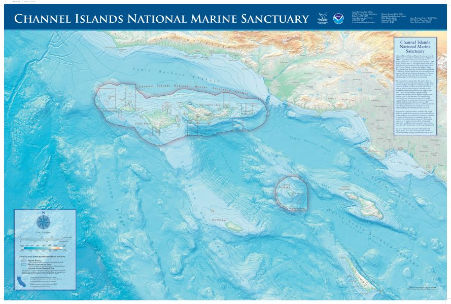 Maps   National Marine Sanctuaries Channel Islands map