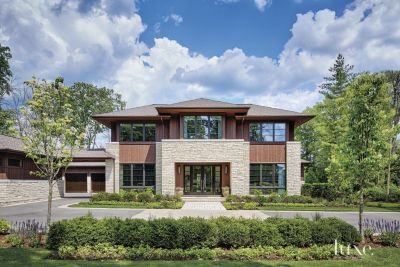 A Transitional Chicago Home with a Prairie Style Exterior   Features     Transitional  Prairie Style Chicago Home