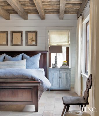 Rustic Blue Country Bedroom Luxe Interiors Design