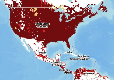Cell Phone Coverage in Mexico Declines for U S  Verizon Customers     Verizon Coverage Map