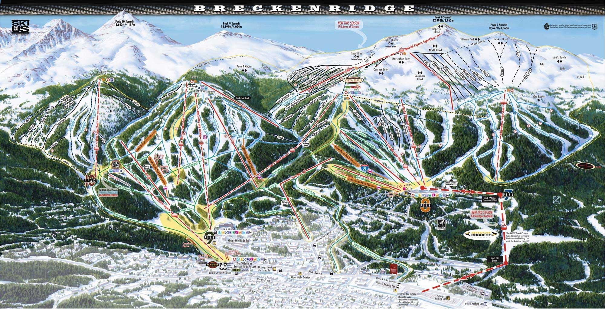 Beaver Creek Ski Trail Map - Beaver creek ski trail map
