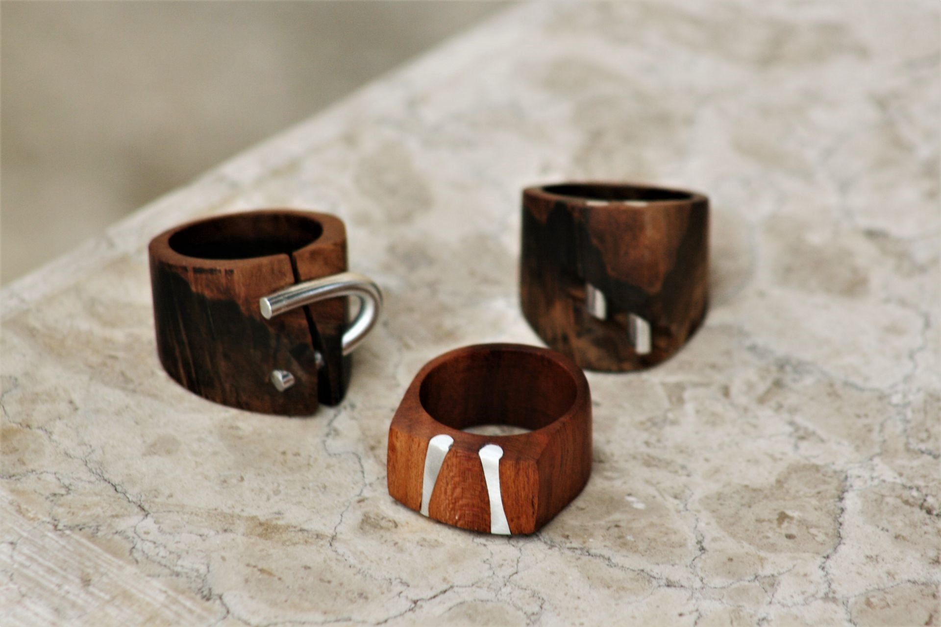 Olive Wood Jewellery Unique Handmade Wooden Rings