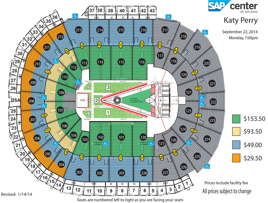 Katy Perry Sprint Center Seating